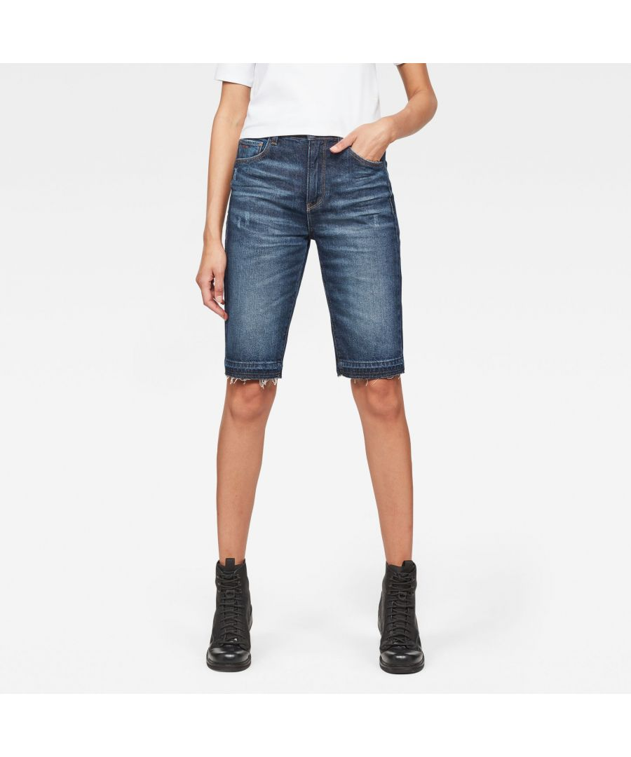 Image for G-Star RAW 3301 High waist Straight Ripped Shorts