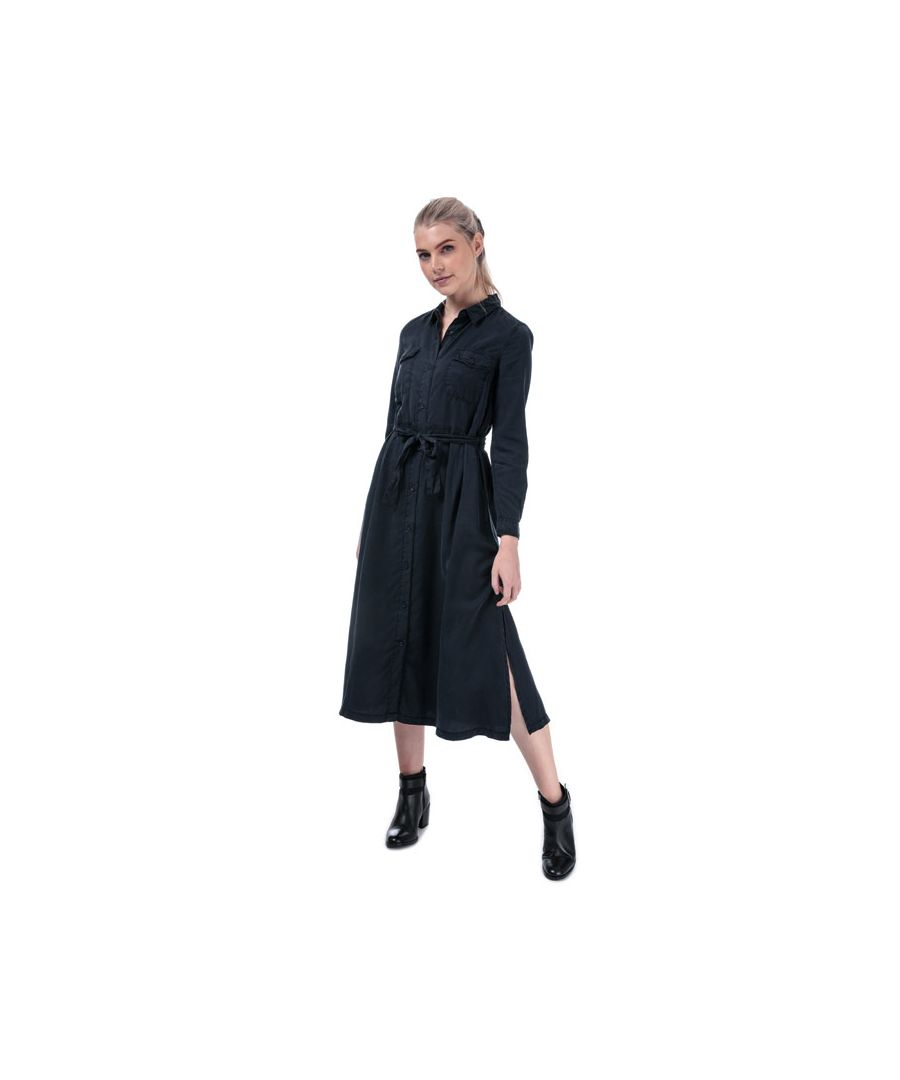 Image for Women's French Connection Tandy Tie Waist Shirt Dress in Indigo
