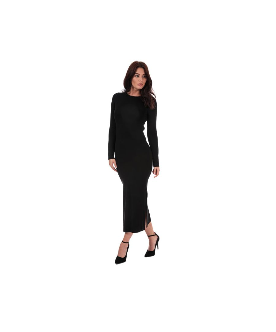 Image for Women's French Connection Jersey Midi Dress in Black