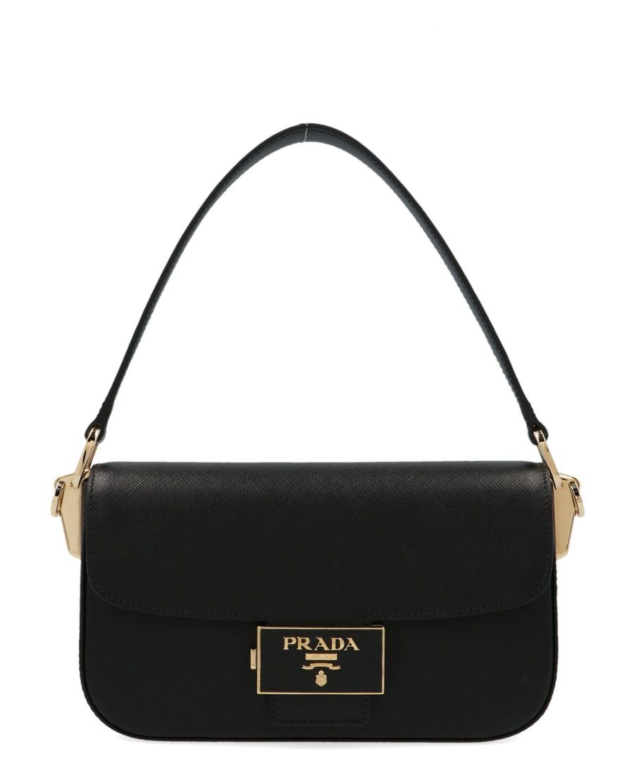 Image for PRADA WOMEN'S 1BD223VOUONZVF0002 BLACK LEATHER HANDBAG