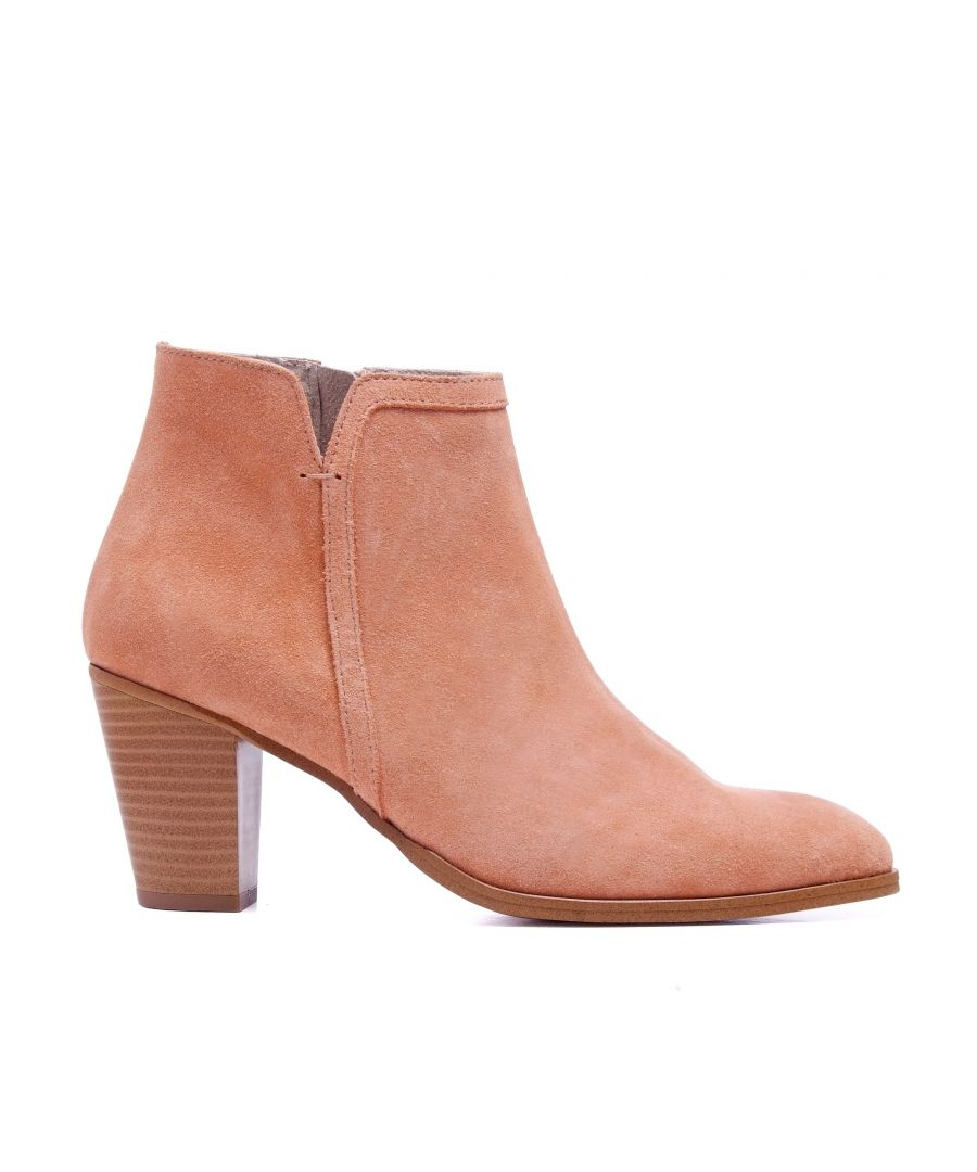 Image for Leather Boots Heel Salmon Women Eva López