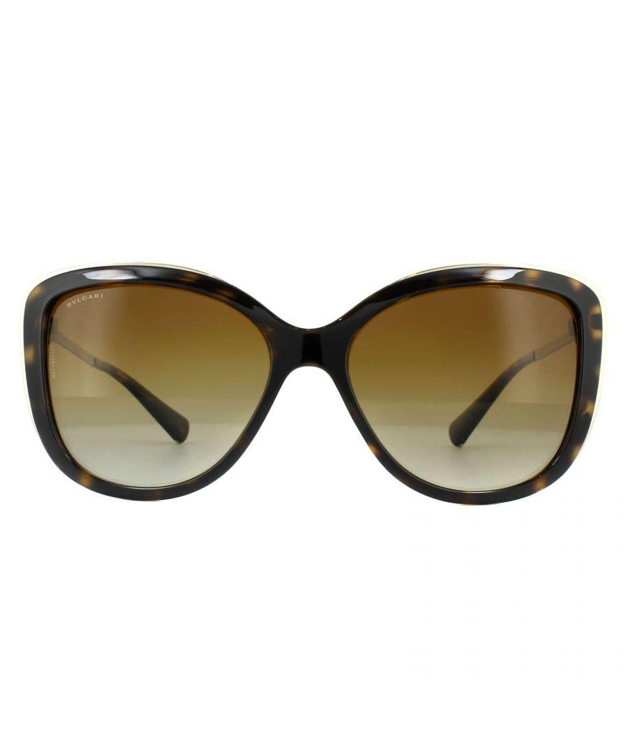 Image for Bvlgari Sunglasses BV6094B 278/T5 Dark Havana Brown Gradient Polarized