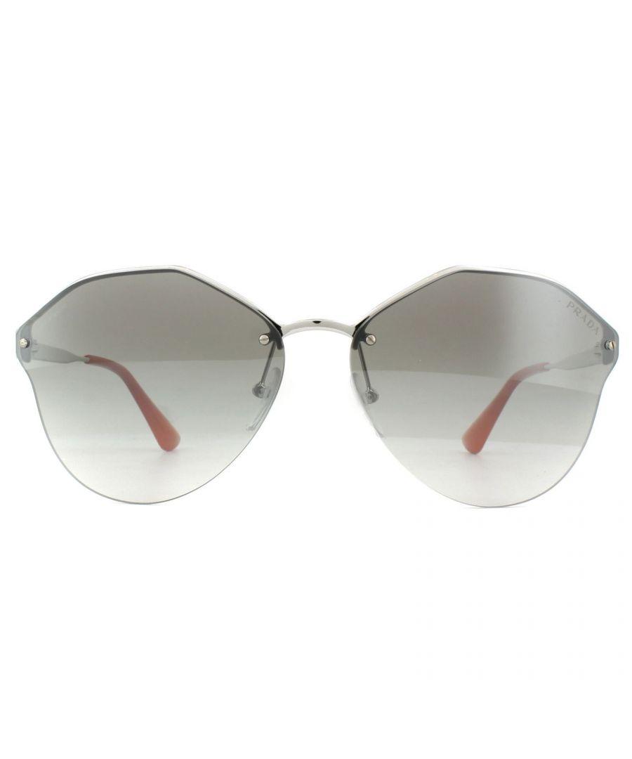 Image for Prada Sunglasses PR64TS 1BC4S1 Silver Gradient Grey Silver Mirror