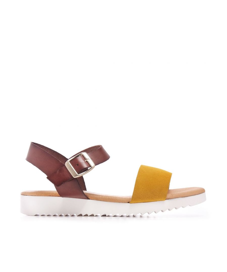 Image for Leather Yellow Sandals Flip Flop Women Maria Barcelo