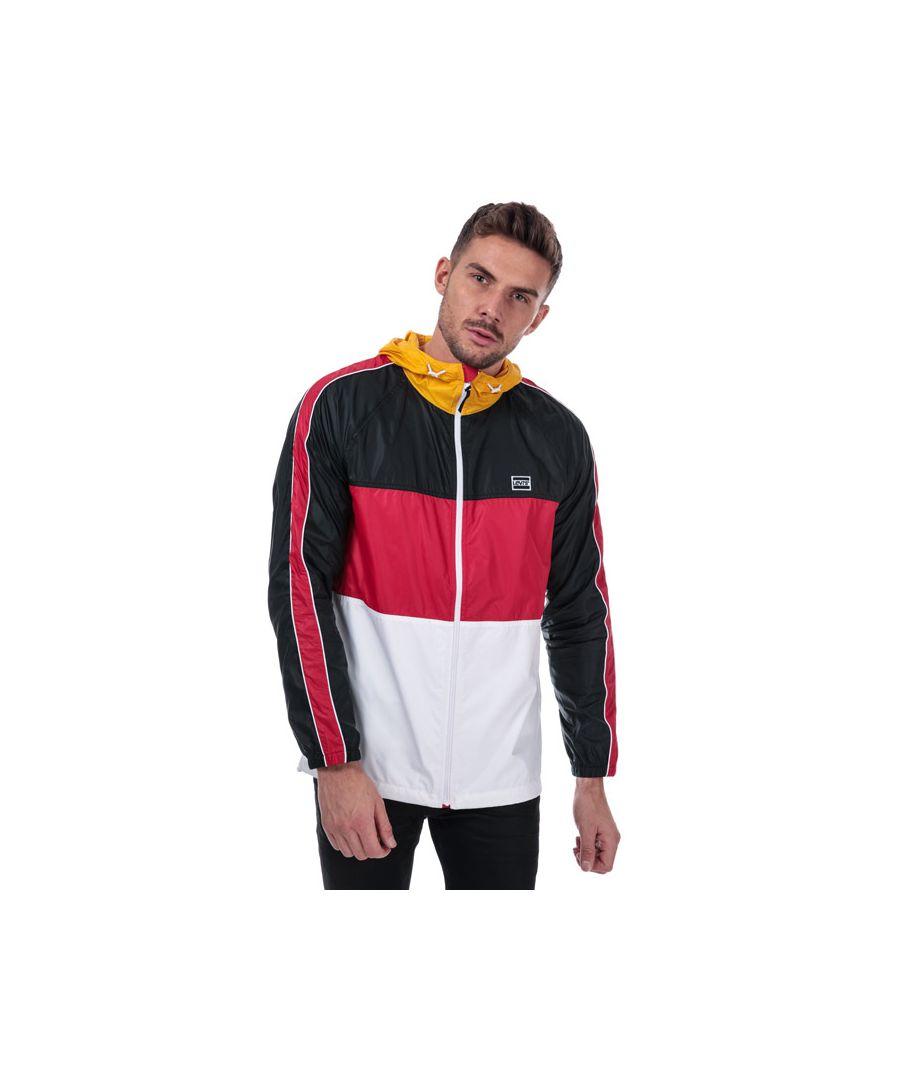 Image for Men's Levis Block Windrunner Jacket in red black
