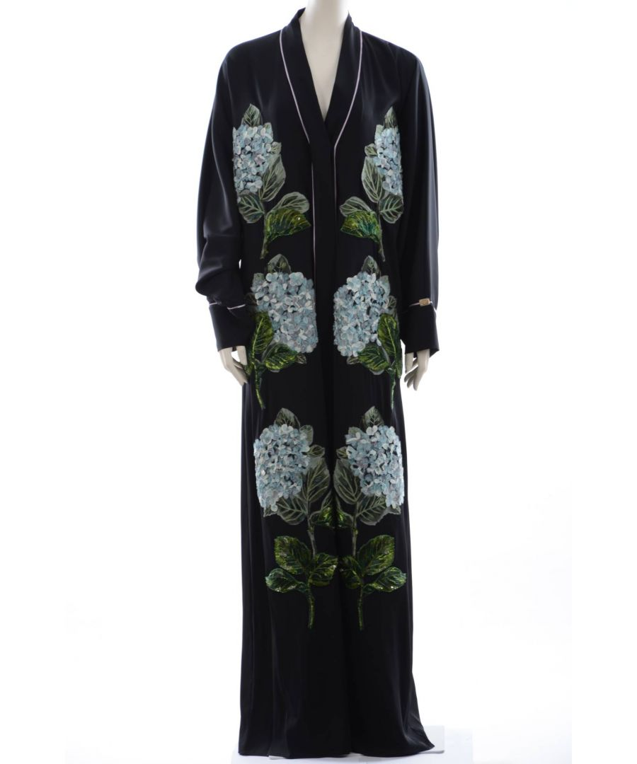 Image for Dolce & Gabbana Women's Embroidery Ortensias Abaya