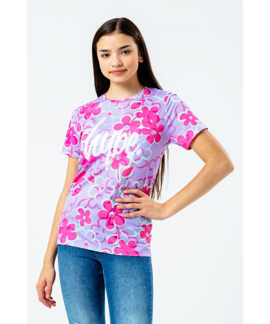 Image for Hype Floral Print Kids T-Shirt