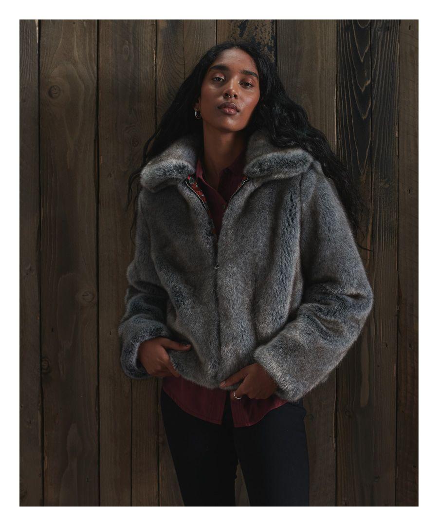 Image for Superdry Boho Faux Fur Jacket