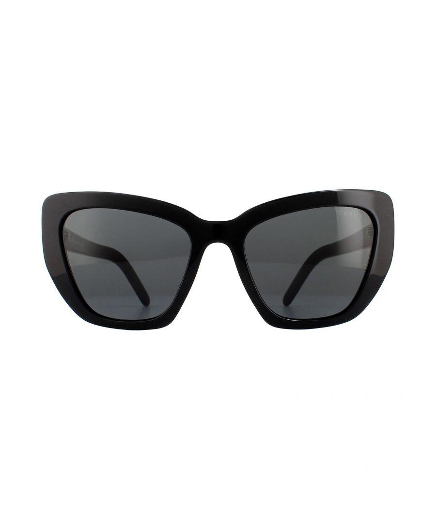 Image for Prada Sunglasses PR08VS 1AB5S0 Black Grey