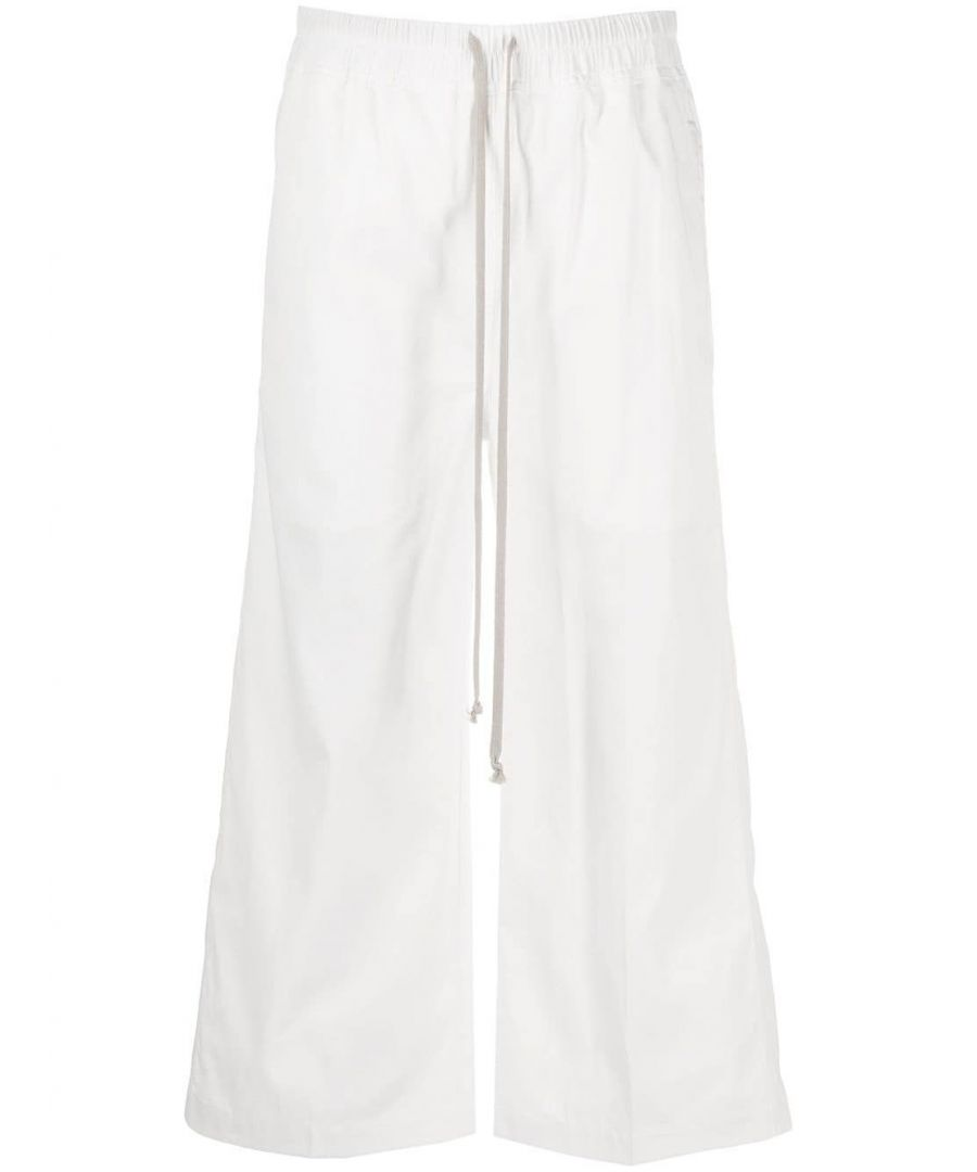 Image for DRKSHDW BY RICK OWENS WOMEN'S DS20S5323CR110 WHITE COTTON PANTS