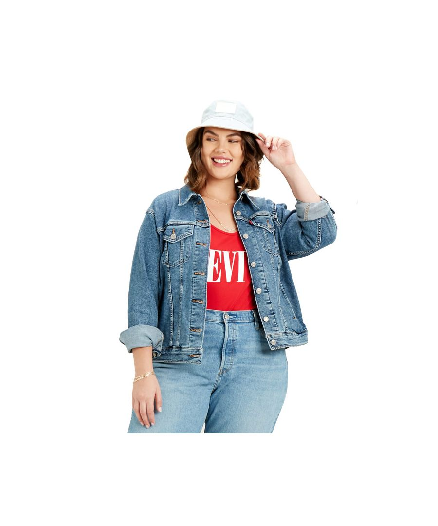 Image for Women's Levis Plus Ex-Boyfriend Trucker Jacket in Denim
