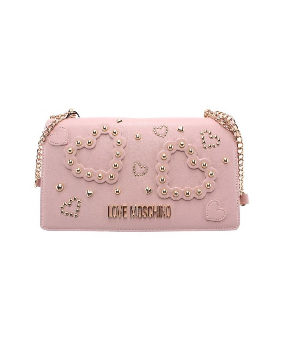 Image for Love Moschino Women's Faux Leather Shoulder Bag in Pink