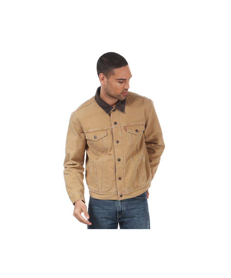 Image for Men's Levis Iconic Original Trucker Jacket Mustard Sin Mustard