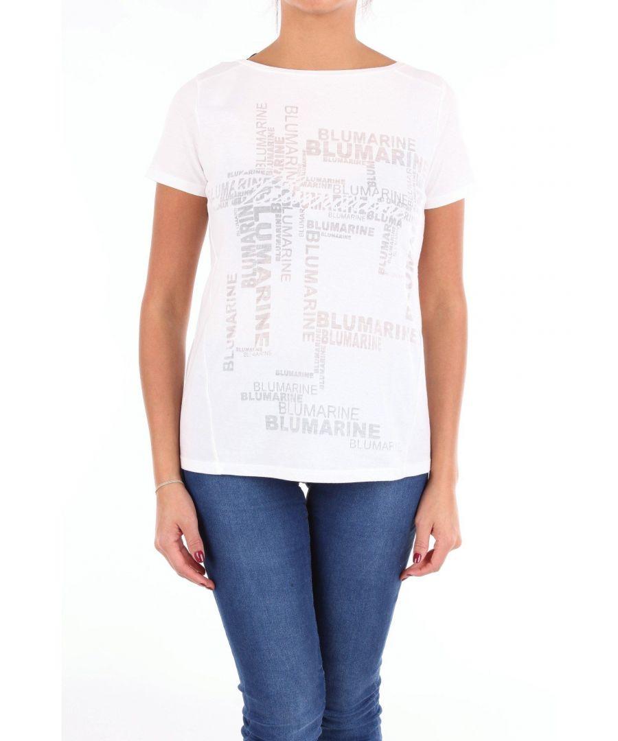 Image for BLUMARINE WOMEN'S 8521BIANCO WHITE COTTON T-SHIRT