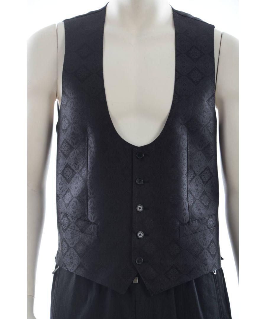 Image for Dolce & Gabbana Men Silk Waistcoat