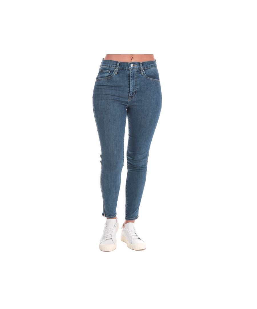 Image for Women's Levis Mile High Ankle Zippers Jeans in Denim
