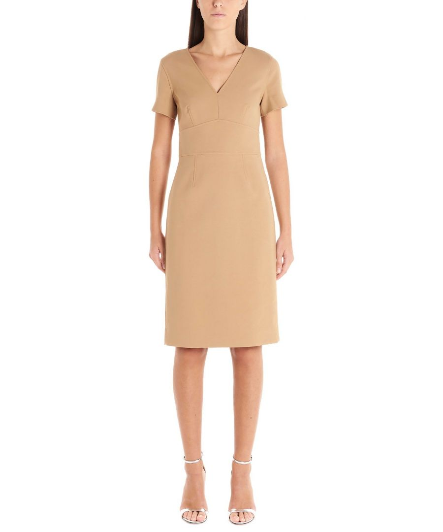 Image for DIANE VON FURSTENBERG WOMEN'S 13538DVFCAMEL BEIGE POLYESTER DRESS