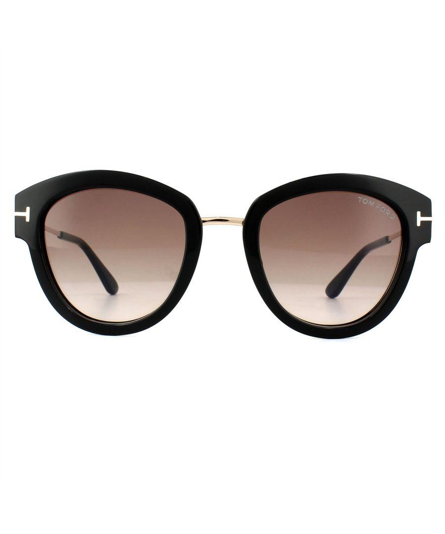 Image for Tom Ford Sunglasses 0574 Mia 01T Shiny Black Bordeaux Gradient