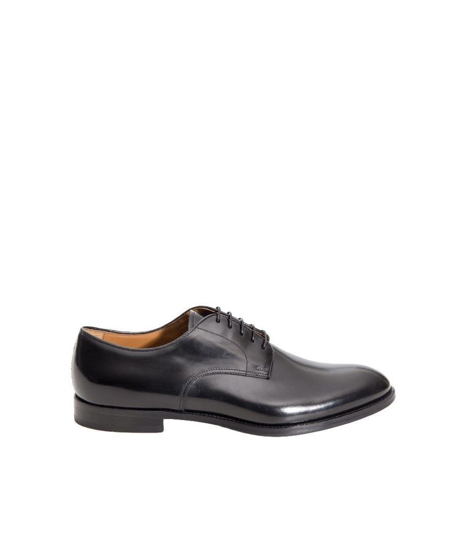 Image for DOUCAL'S MEN'S DU1003MONZUF028NN00 BLACK LEATHER LACE-UP SHOES