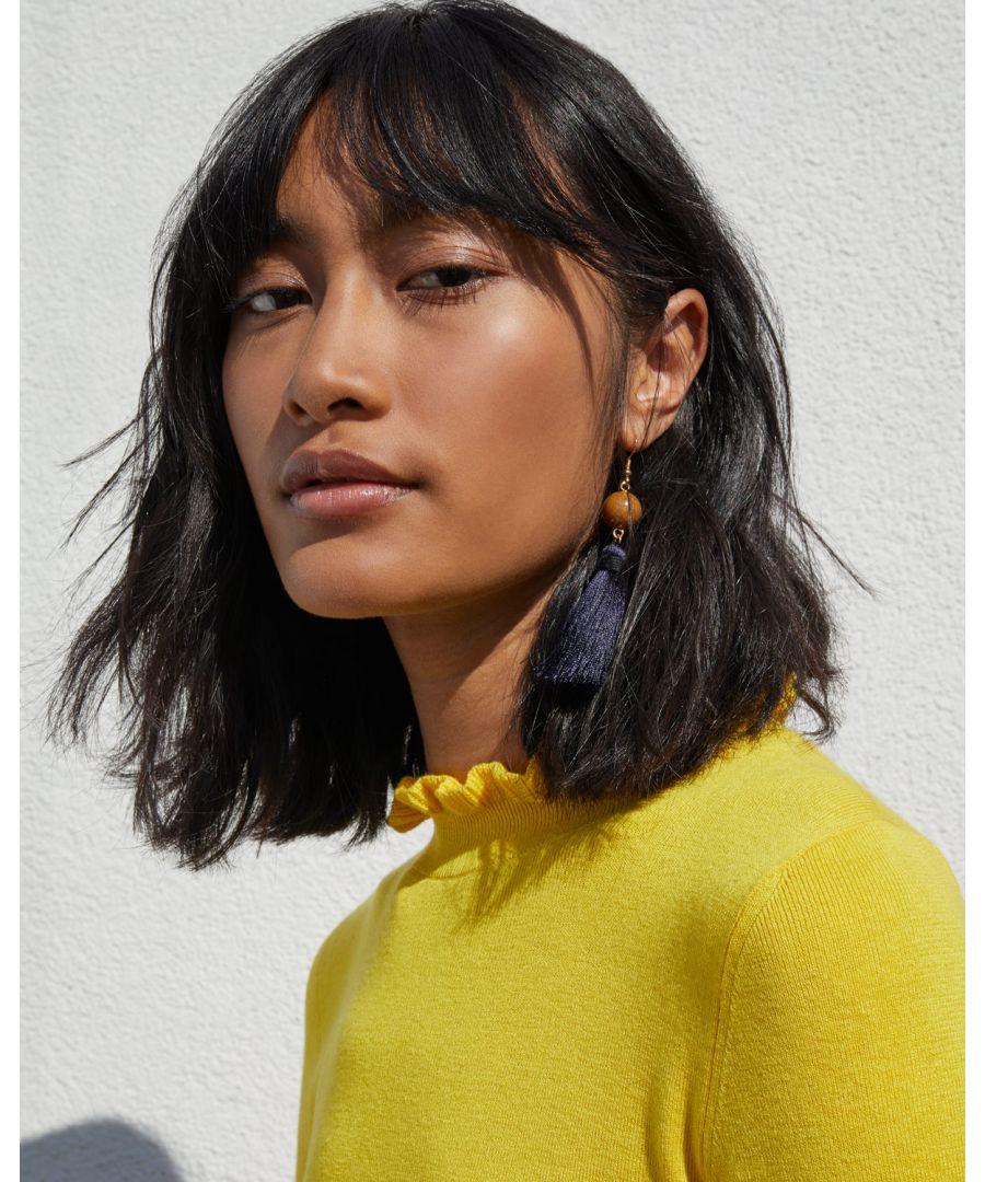 Image for Chunky Tassel Pebble Earrings