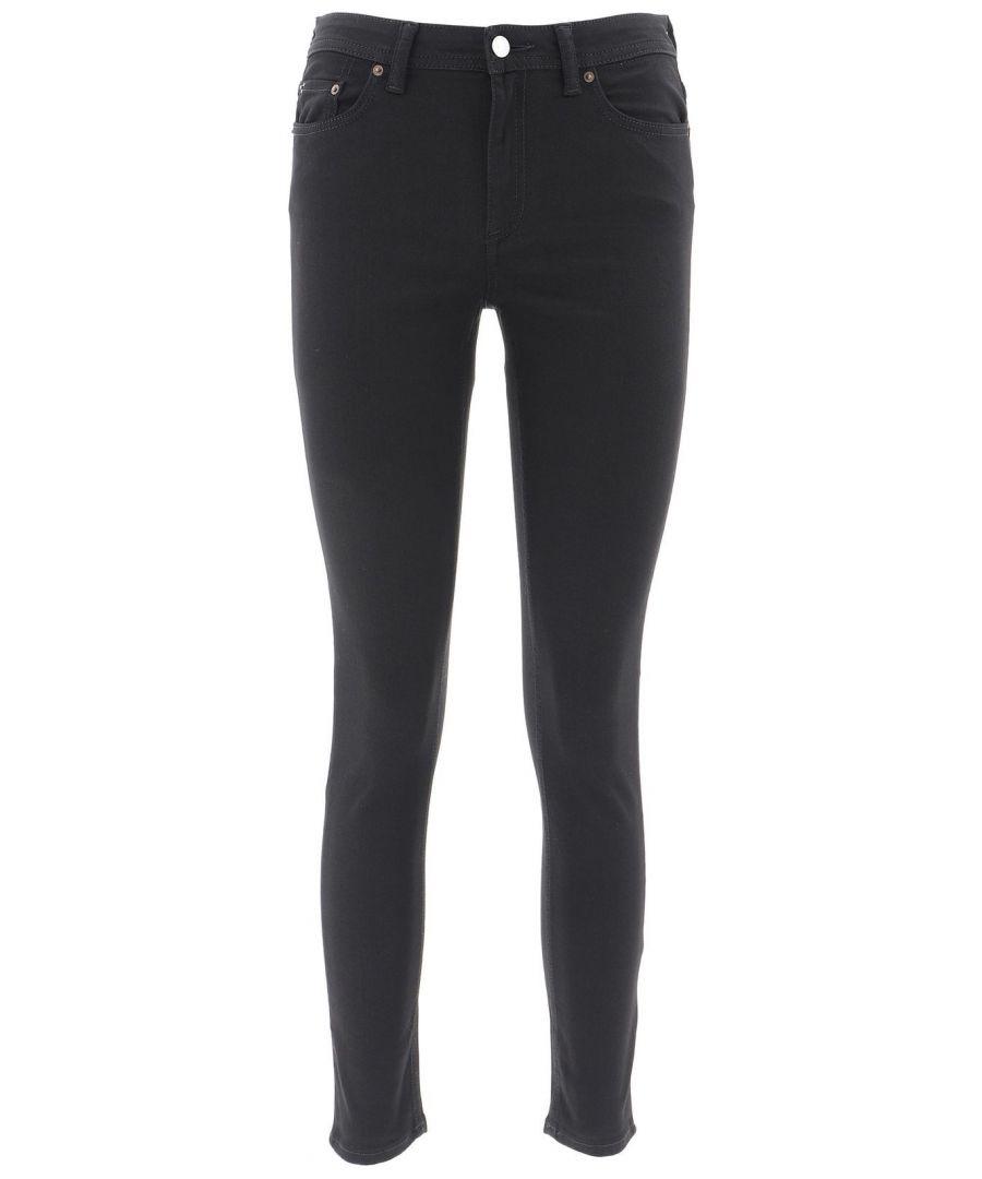 Image for ACNE STUDIOS WOMEN'S 30D176155LENGHT32BLACK BLACK COTTON PANTS