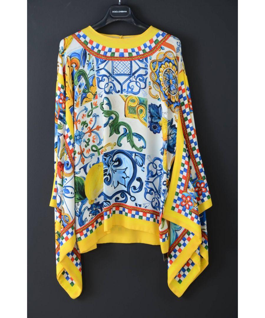 Image for Dolce & Gabbana Women Silk Long Sides Top