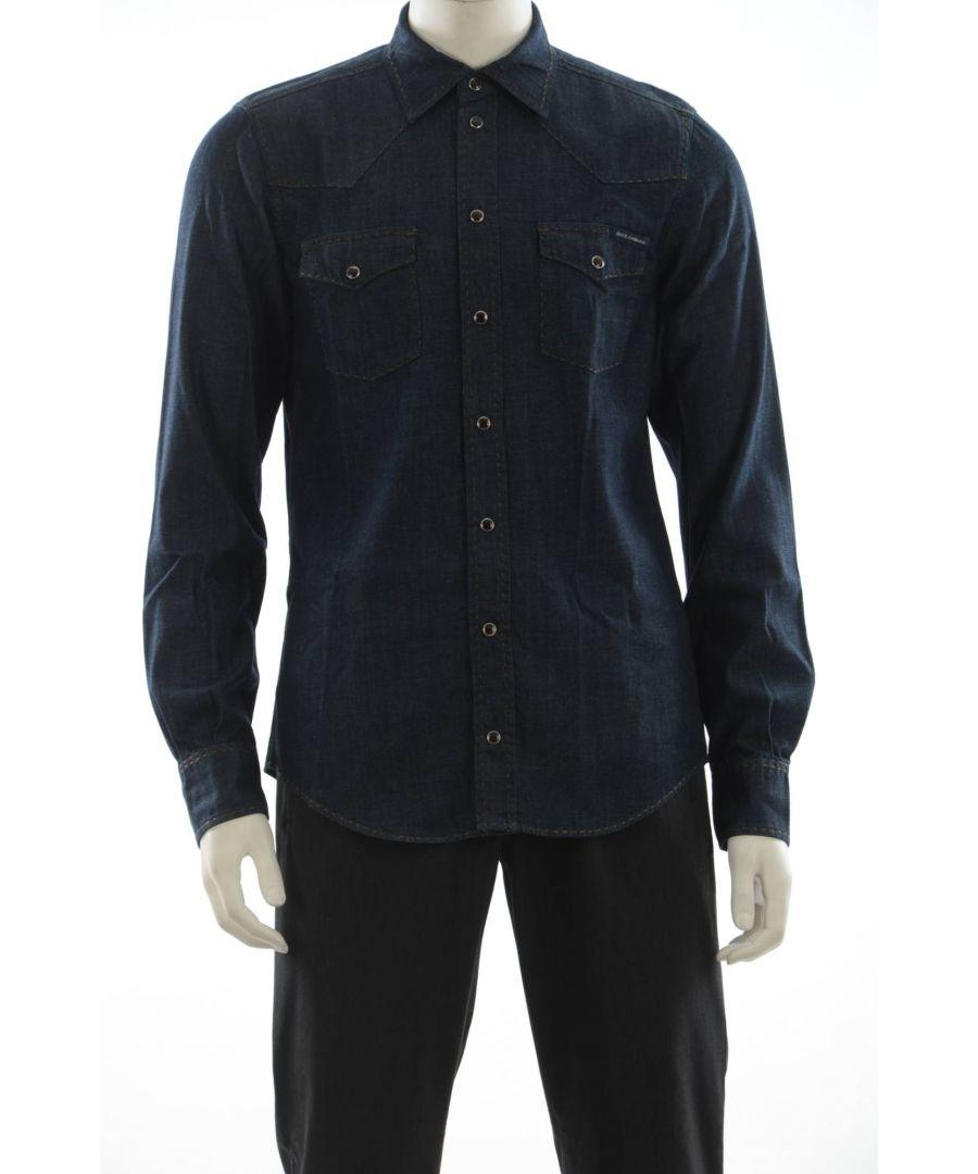 Image for Dolce & Gabbana Men's Denim Shirt Long Sleeve