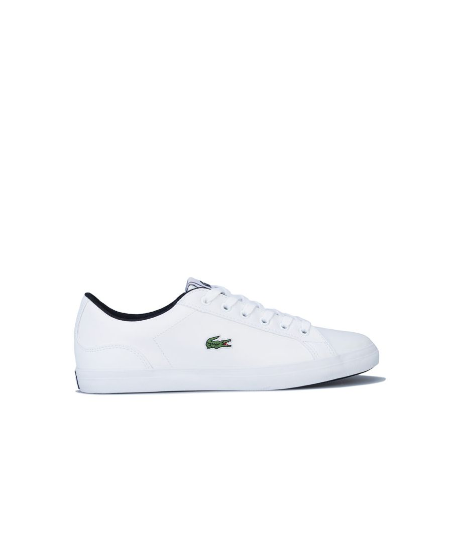 Image for Boy's Lacoste Junior Lerond Trainers in White