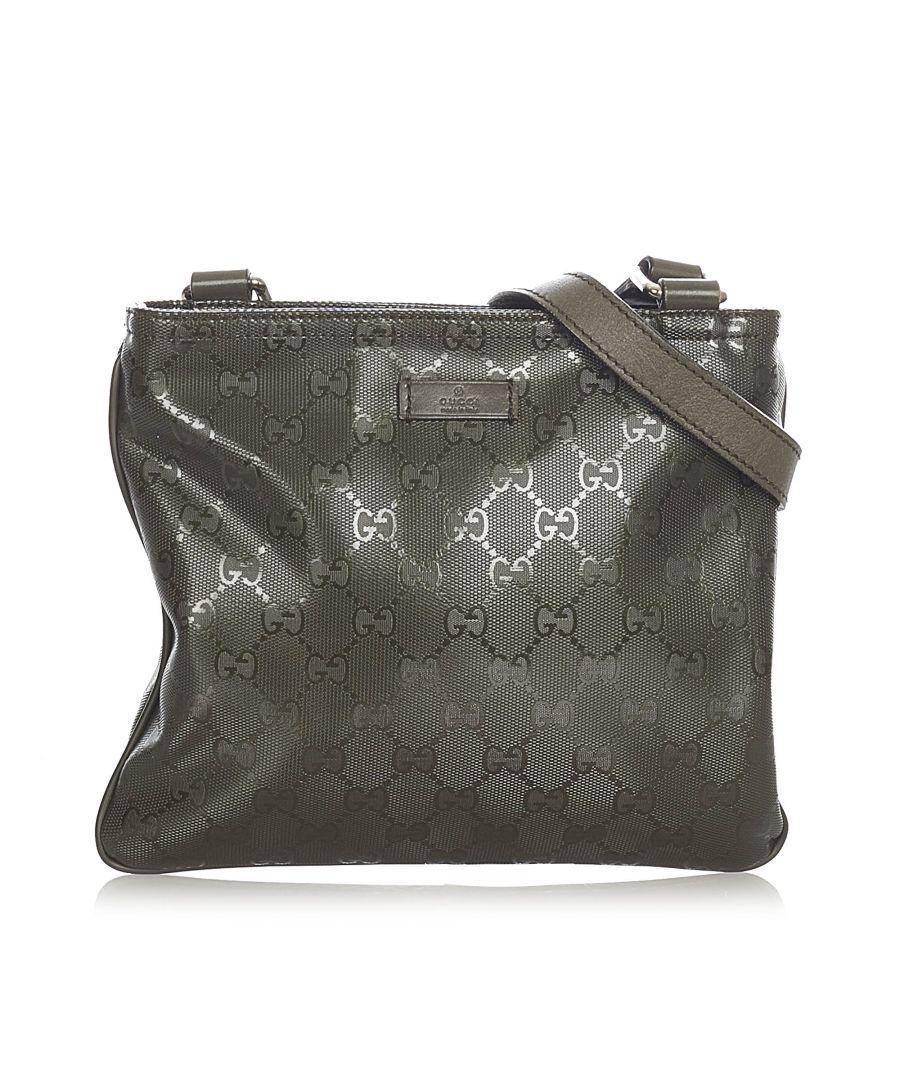 Image for Vintage Gucci GG Imprime Crossbody Bag Green