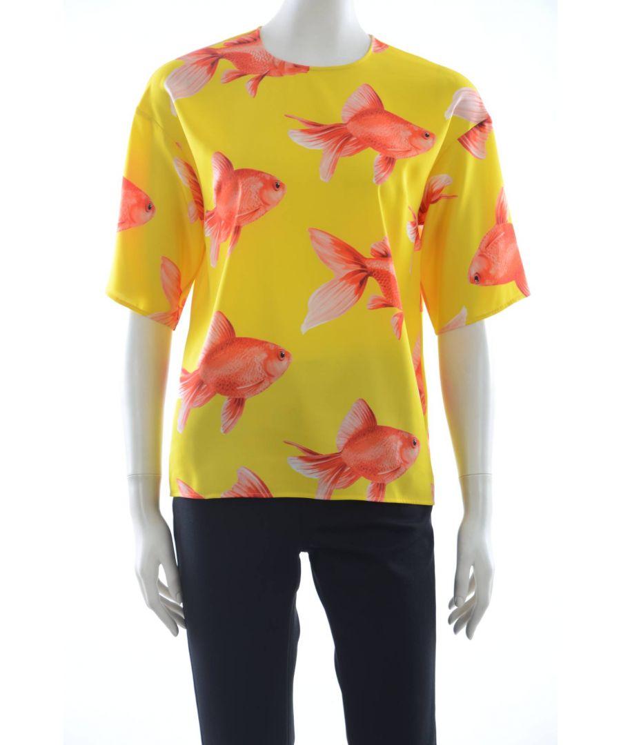 Image for Dolce & Gabbana Women Silk Fish Top