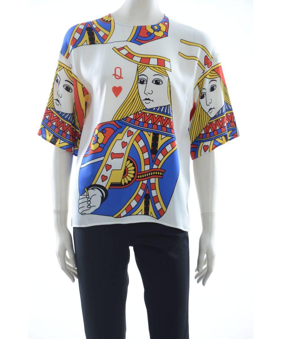 Image for Dolce & Gabbana Women Queen of Hearts Silk Top