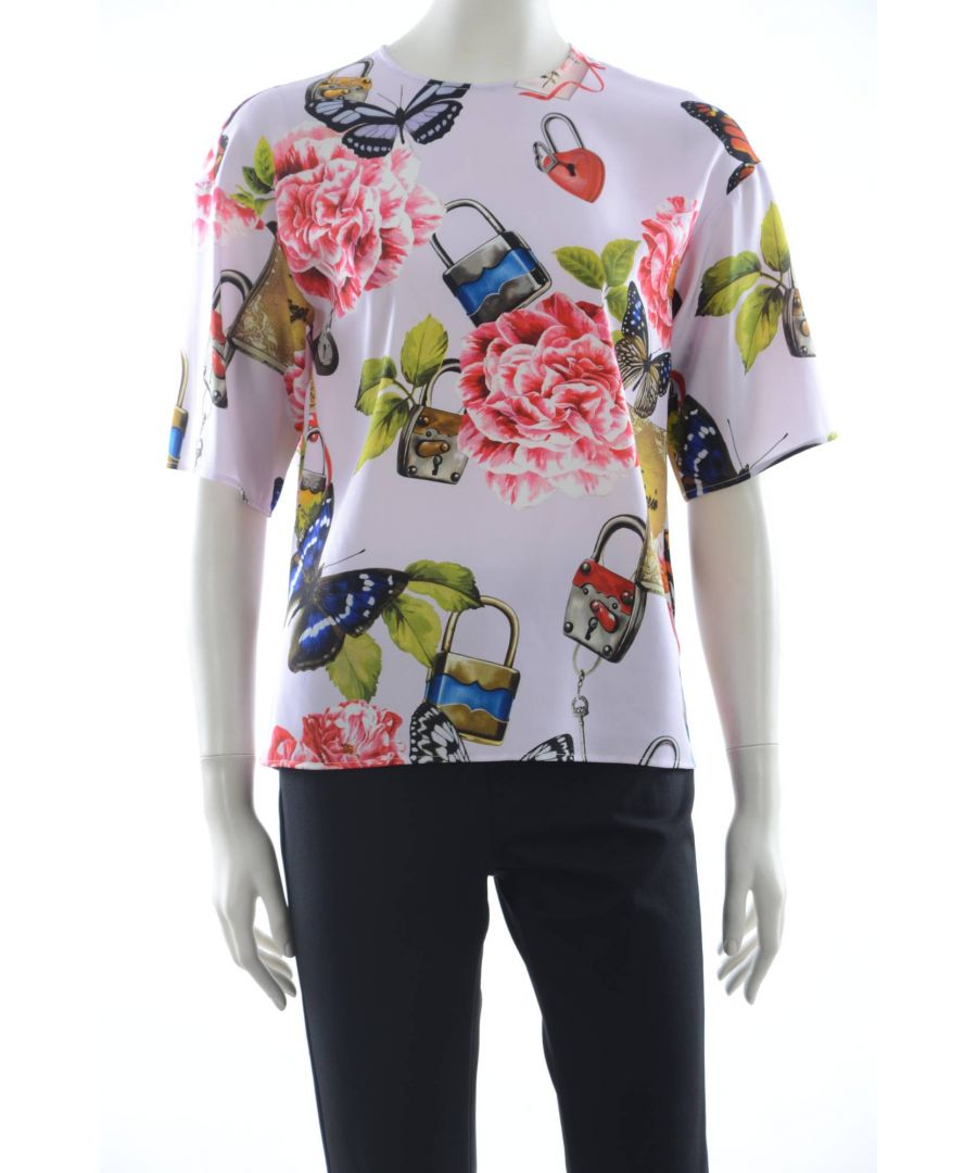 Image for Dolce & Gabbana Women Silk Floral Top