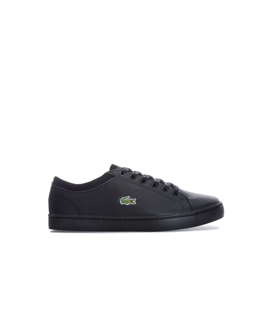 Image for Boy's Lacoste Children Straightset Trainers in Black