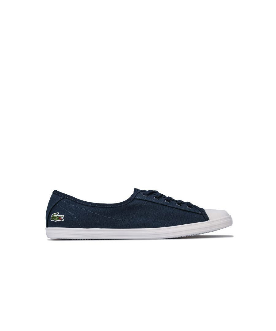 Image for Women's Lacoste Ziane BL Canvas Trainers in Navy