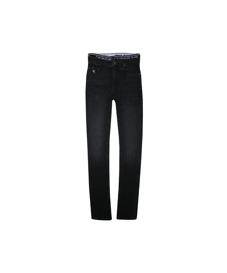 Image for Calvin Klein Boys' Junior Super Skinny Jeans in Black