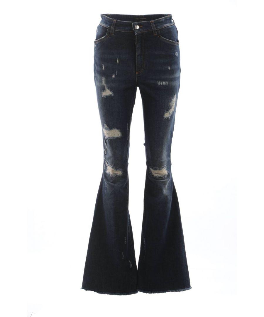 Image for Dolce & Gabbana Women Denim Flare Trousers