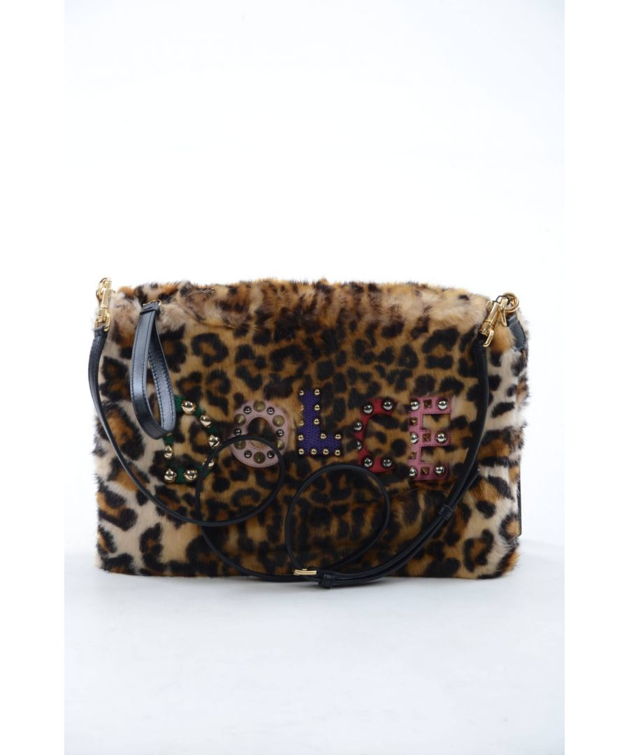 Image for Dolce & Gabbana Women Leopard Leather Clutch Bag