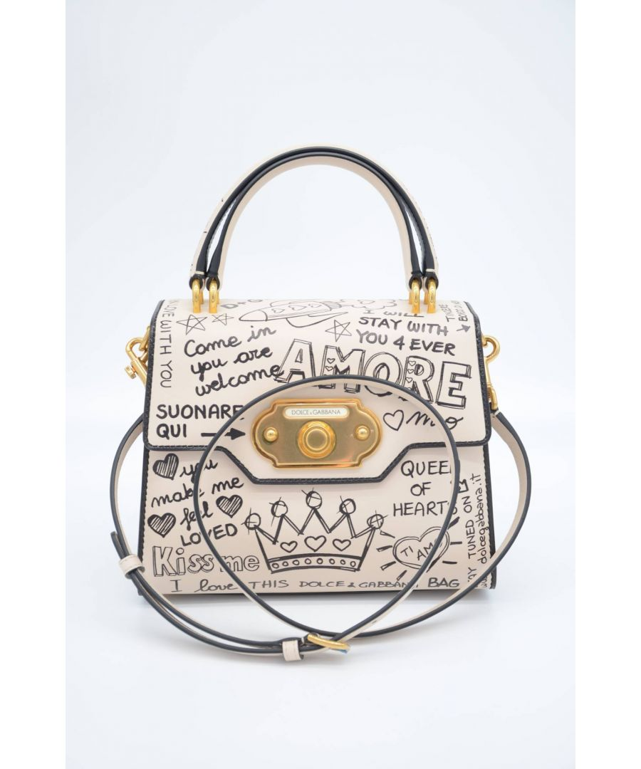 Image for Dolce & Gabbana Women Graffiti Leather Top Handle Bag
