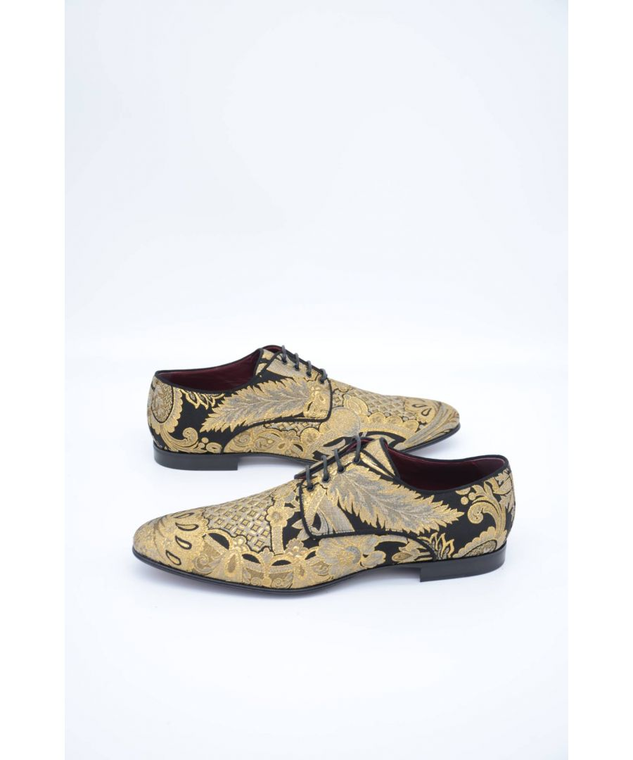 Image for Dolce & Gabbana Men Embroidered Derby Shoes