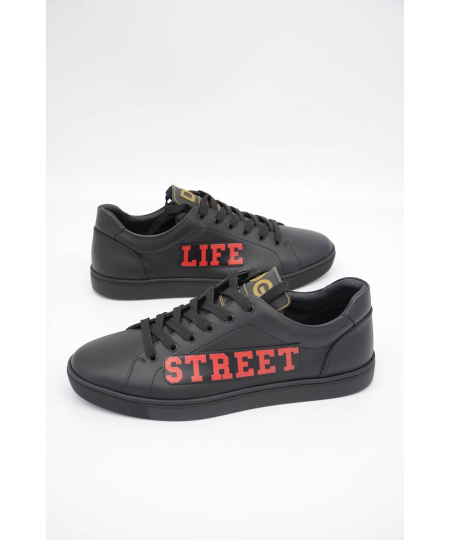 Image for Dolce & Gabbana Men Leather Low-Top Sneakers
