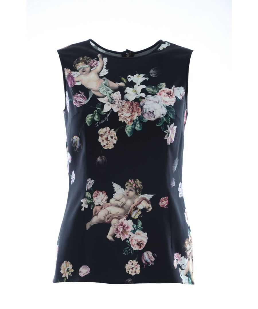 Image for Dolce & Gabbana Women Floral Sleeveless Top