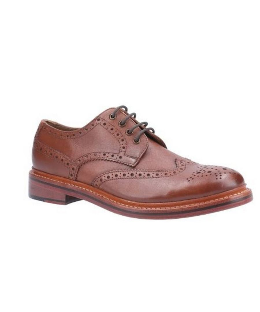 Image for Cotswold Mens Quenington Goodyear Welt Lace Up Leather Shoe (Brown)