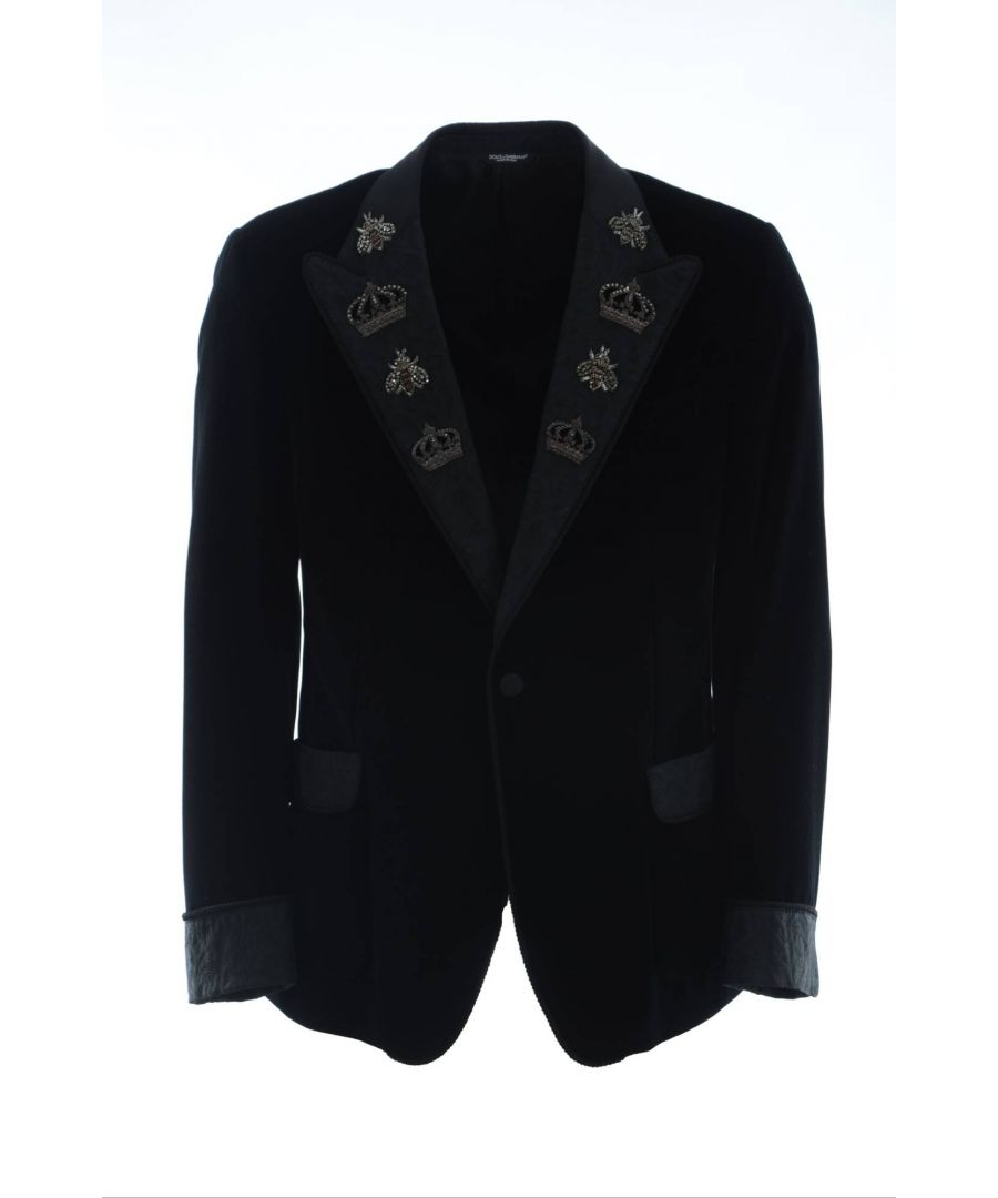 Image for Dolce & Gabbana Men Embroidered Blazer