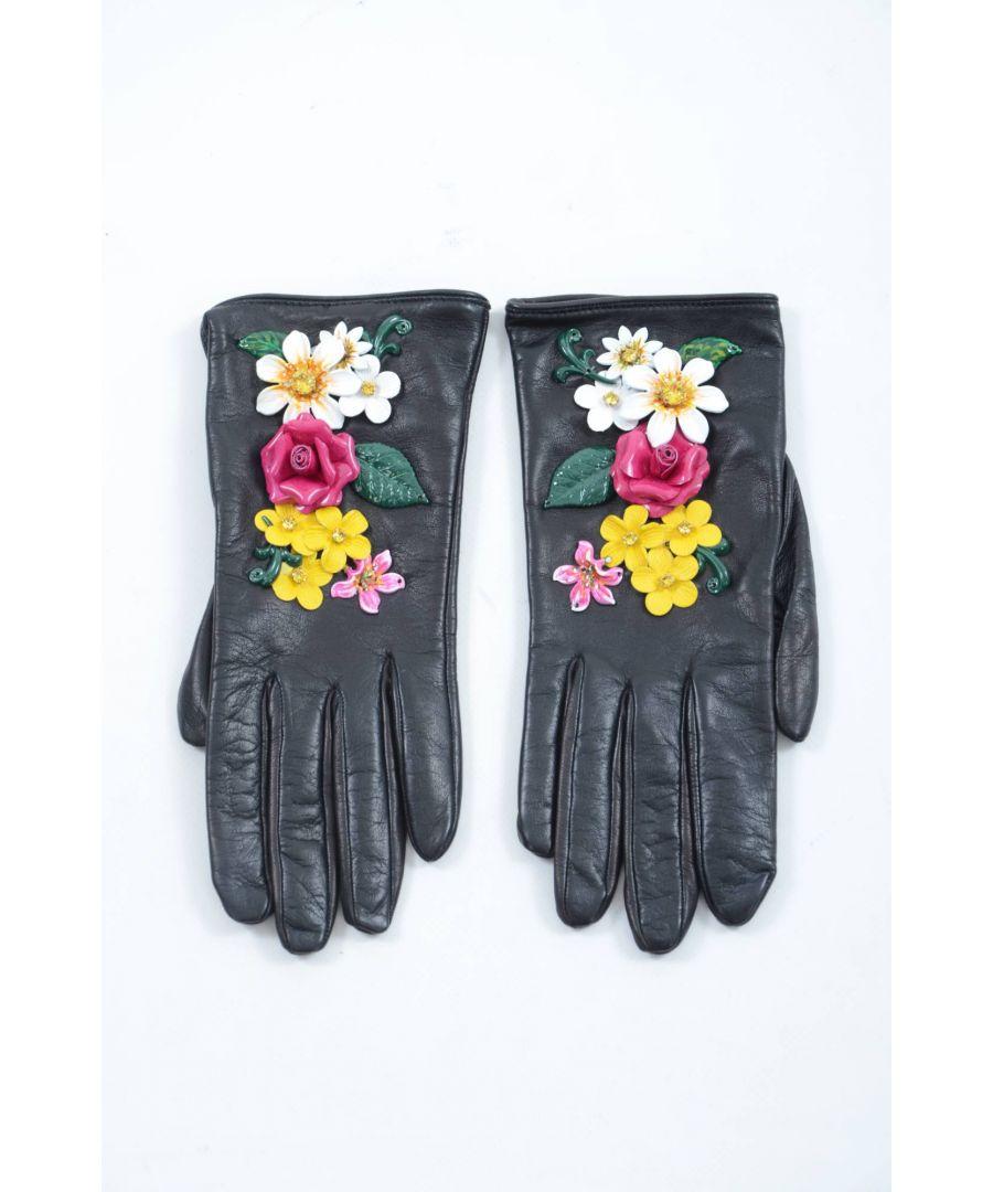 Image for Dolce & Gabbana Women Short Leather Gloves