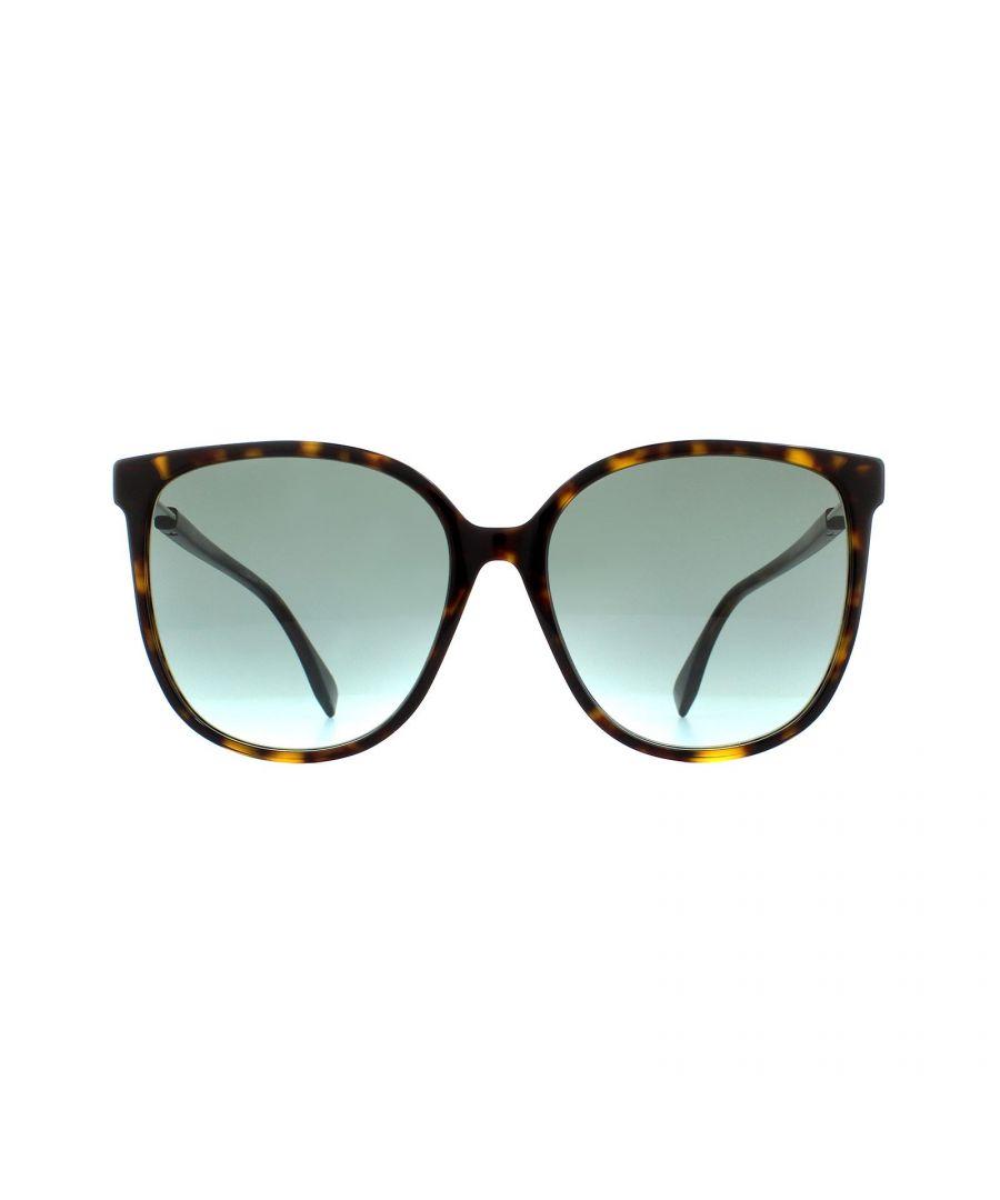Image for Fendi Sunglasses FF 0374/S 086 EQ Dark Havana Green Aqua