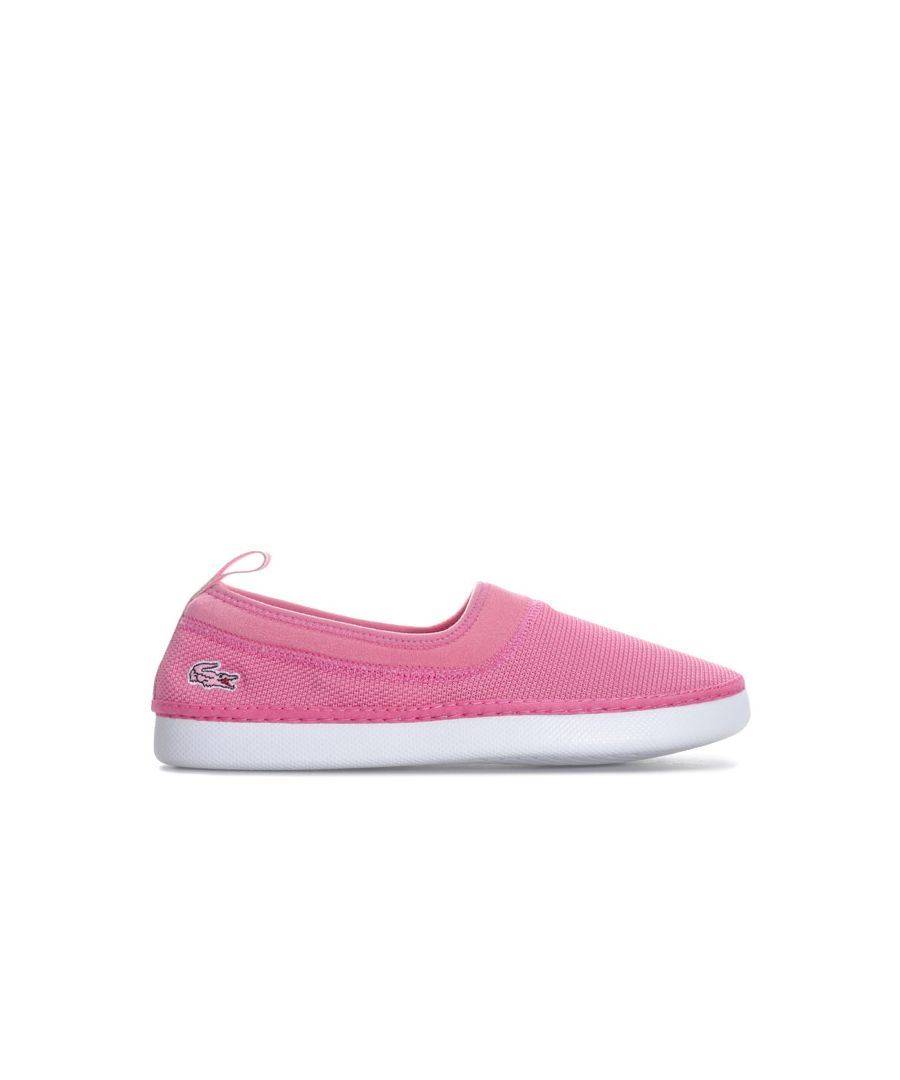 Image for Girl's Lacoste Junior L.ydro 118 Slip on Espadrille in Pink