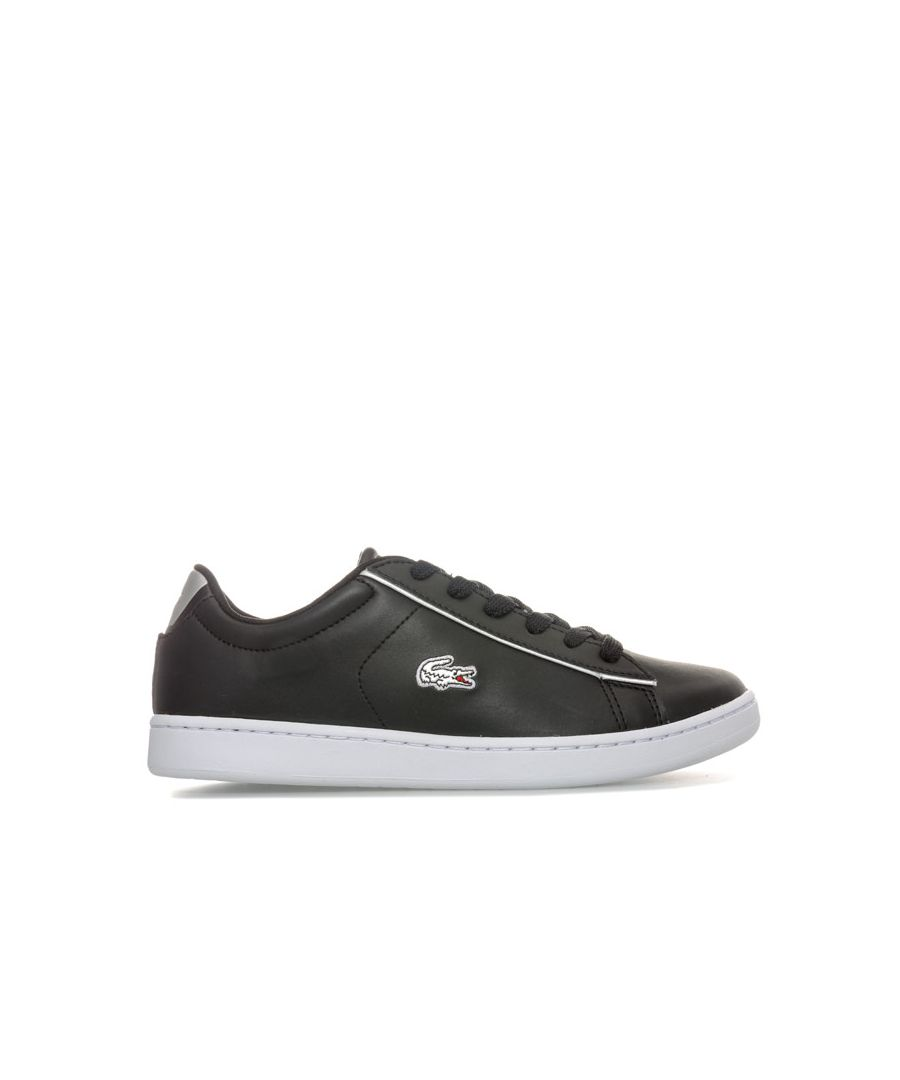 Image for Girl's Lacoste Junior Carnaby Evo Trainers in Black silver
