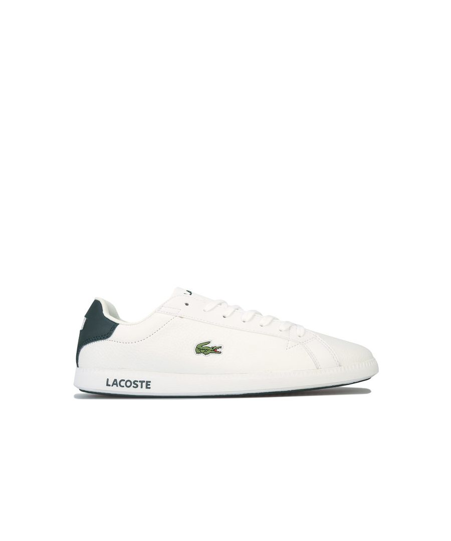 Image for Men's Lacoste Graduate LCR3 118 1 SPM Trainers in White Green