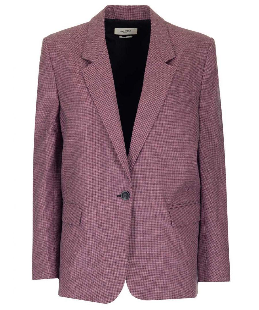 Image for ISABEL MARANT ÉTOILE WOMEN'S VE108120P011E40RW PINK COTTON BLAZER