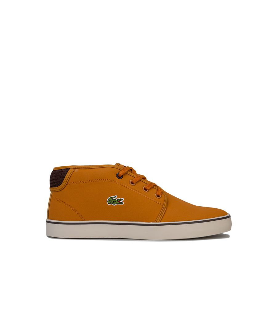Image for Boy's Lacoste Junior Ampthill Mid Trainers in Tan